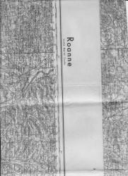 carte Roanne ,allemande mai 1940