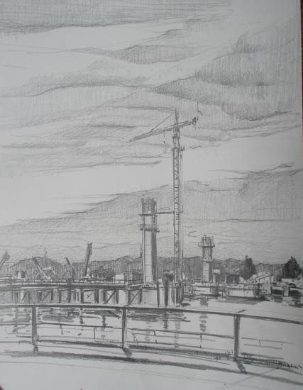 le terrain libre. crayon .2010