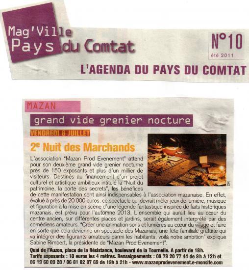 Article Mag'ville- Yannick ROSSIGNOL