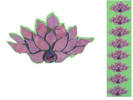 Animaux marins mosa que artisanale dessous de plat for Frise murale verticale