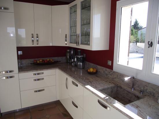 plan cuisine granit ou pierre polie - Granite Gris Cuisine