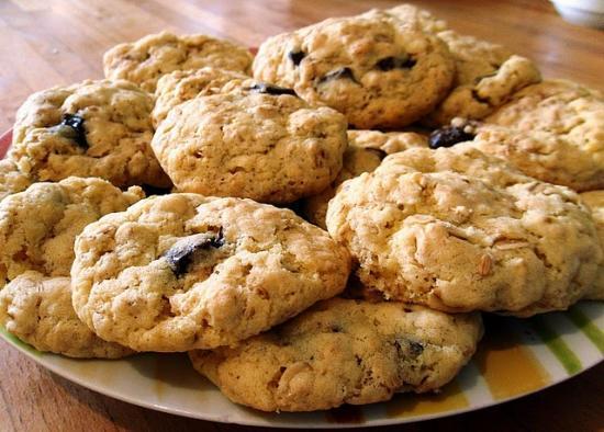Cookies aux flocons d'avoine et au chocolat