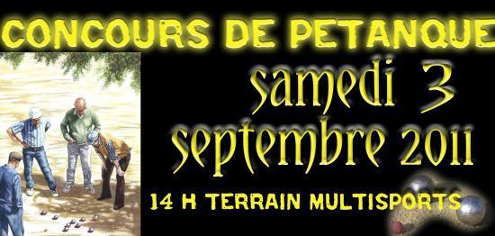 Concours de petanque 2011 for Choisir ses boules de petanque