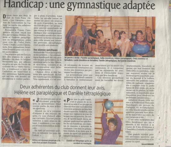 article Dauphiné Libéré du 18 juin 2011