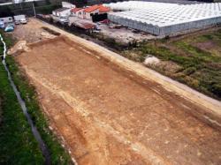Vue aérienne de la plantation de Negabous après son décapage.  © Air Images Services