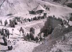 Le site des fouilles