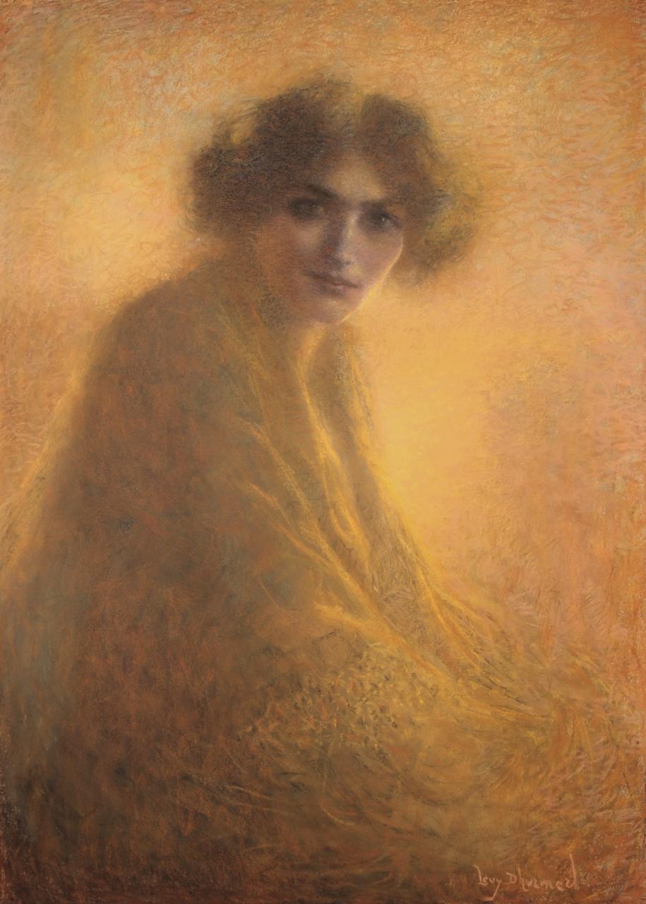 Lucien Levy Dhurmer,La Bienveillante,1917