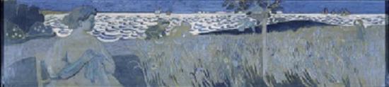 Broderie devant la mer