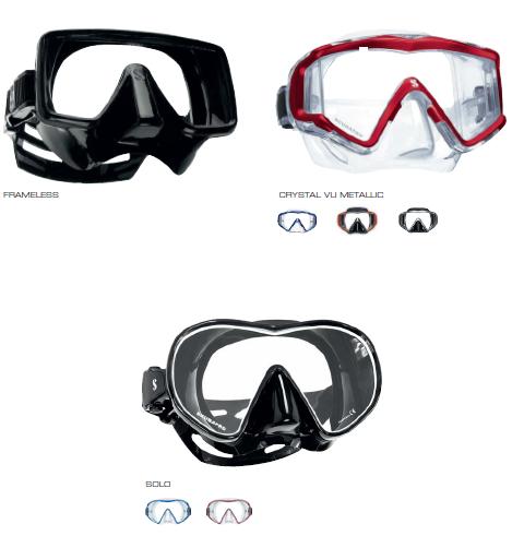 Masque de plongée FRAMELESS ET CRYSTAL VU