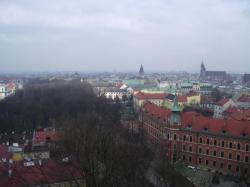 La ville vu du clocher de la cathédrale du château royal