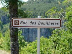 le panneau qui permet de situer la via cordata en venant de Ste Enimie, 4 km avant Meyrueis