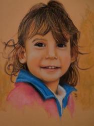 LEA, pastel sur pastelmat 30x 40 cm