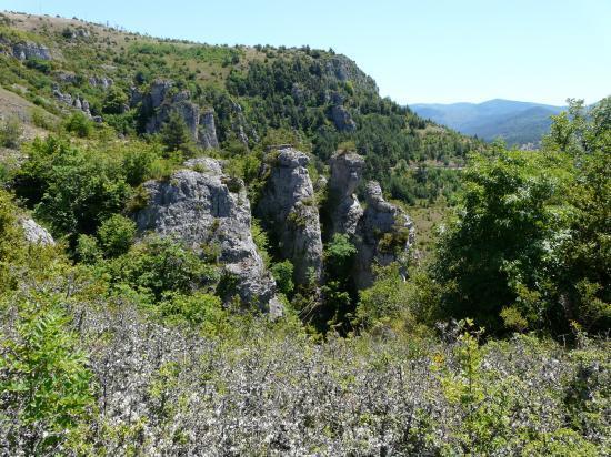 site de la via cordata du roc des Bouilhères à Meyrueis