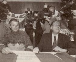 Francis Smerecki signe à Nancy