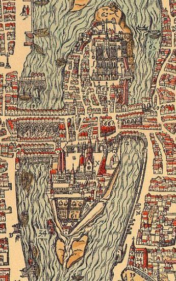 Détail du plan de Bellefores, 1575