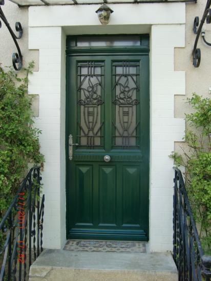 restitution d'une porte d'entrée 1900 en porte isolante