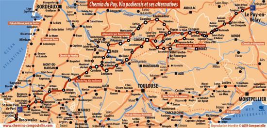 Carte Trajet St Jacques De Compostelle | tonaartsenfotografie