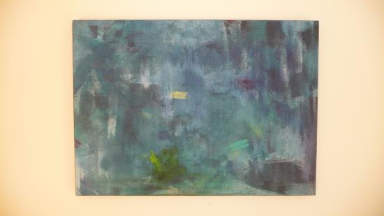 Sauvetage en mer. Peinture lyrique, acrylique