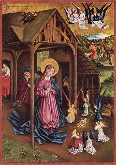 La Nativité. Peinture de Johann Koerbeck (1457)
