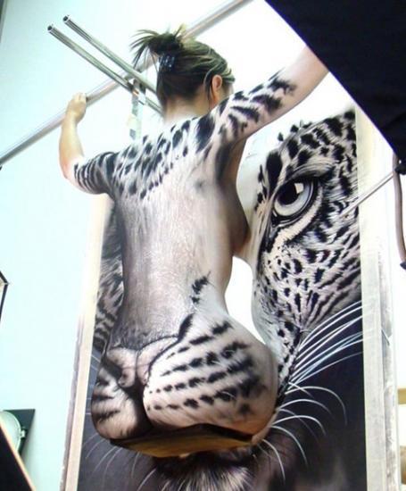 femme tigre imge insolite rigolo incroyable