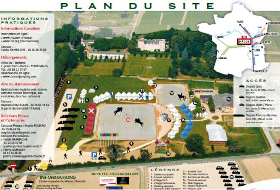 Plan du site de Mâcon Chaintré