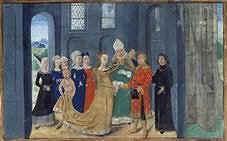 Le mariage de Mélusine, (Bibliothèque de France, Ms Fr 24 383, fol. 10).