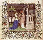 Les épousailles de Mélusine (Bibliothèque de France, ms Fr. 12575, fol. 26 v.).