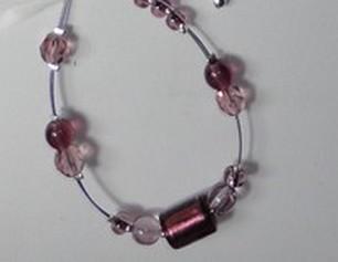 Bracelet mauve assorti à C12b
