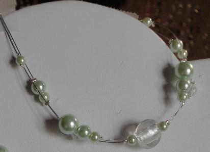 Bracelet tons vert anis