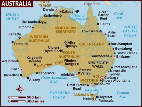 Carte Australie Esperance.Australie Les Plats De Vero