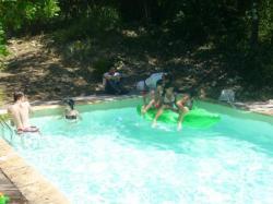 la petite baignade des enfants