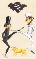 Illustration de couverture de La Grande peur des bien-pensants de G. Bernanos, éditions du Livre de Poche.