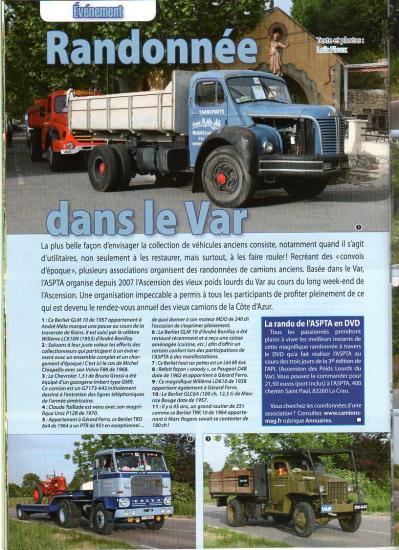 CAMIONS D'HIER ET D'AUJOURD'HUI - Revue n° 15 - Juin / Juillet 2009