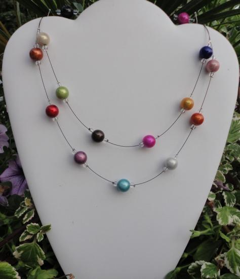 Collier été multicolor
