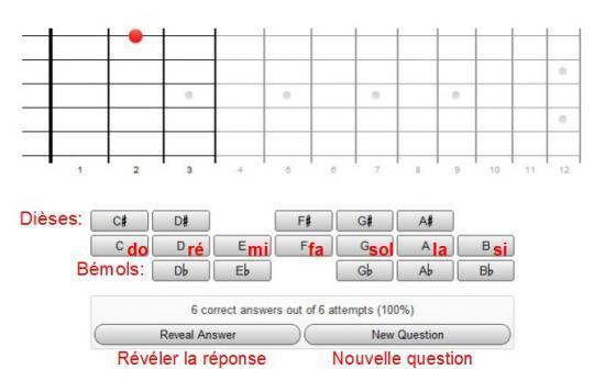 Quiz Notes Guitare