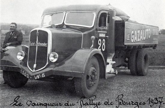 Vainqueur du rallye de Bourges en 1937