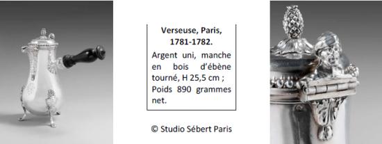 Verseuse, Paris, 1781-1782