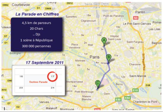 Technoparade à Paris (parcours)