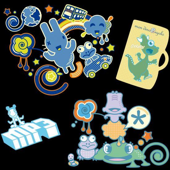 graphismes illustrations animaux et personnages