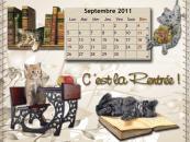 Calendrier Chat fond d'écran - Septembre 2011
