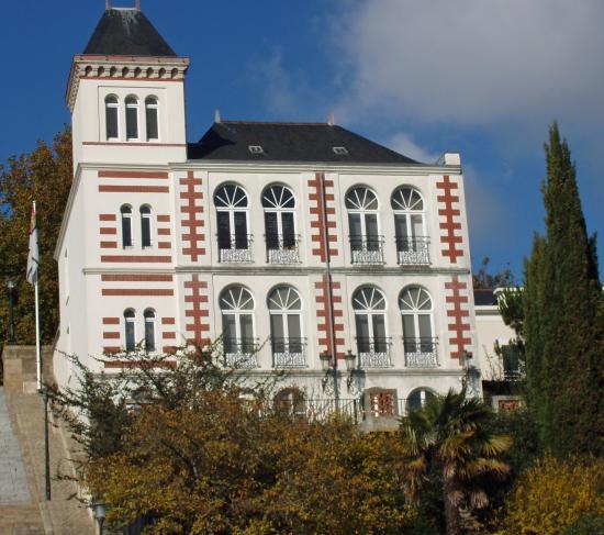 Le Musée Jules Verne,ancienne maison d'armateur ou capitaine d'industrie sans doute...a son palmier !!!eoe re