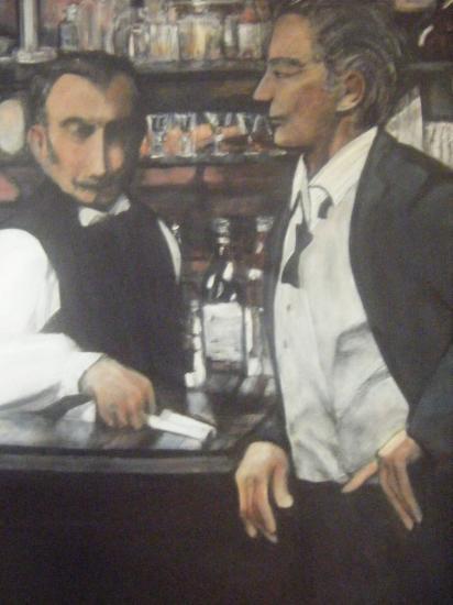 Deux hommes au café