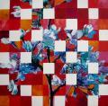 Hanami # 80 - 2011 - Acrylique sur papier marouflé sur toile 100 X 100