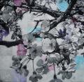Hanami # 93 - 2011 - Acrylique sur papier marouflé sur toile 60 X 60