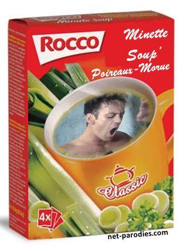 parodie fausse pub soupe royco minute rocco