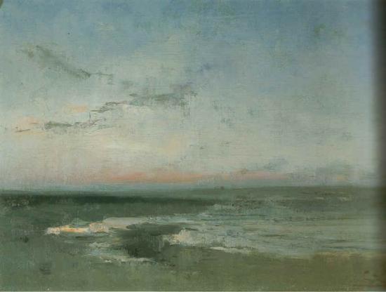Aurore, mer du Nord