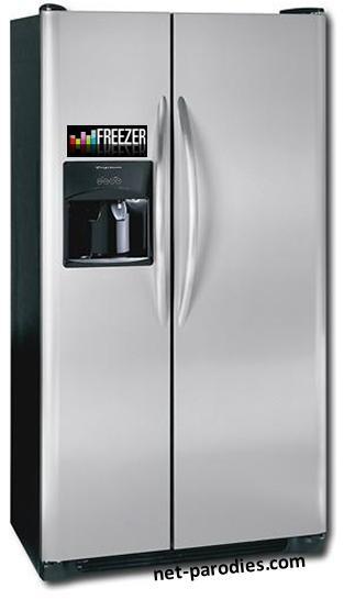 parodie fausse pub refrigérateur freezer deezer