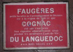 Porte-document publicitaire de la distillerie Salles (verso)