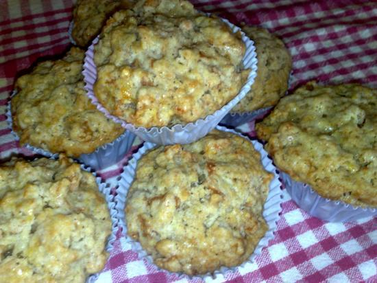 Muffins pêche et cannelle
