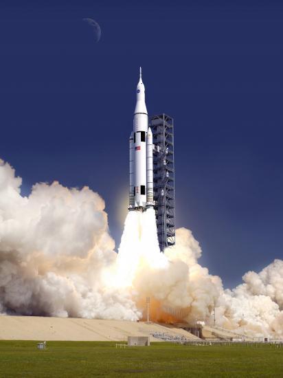 Décollage du lanceur SLS (vue d'artiste)